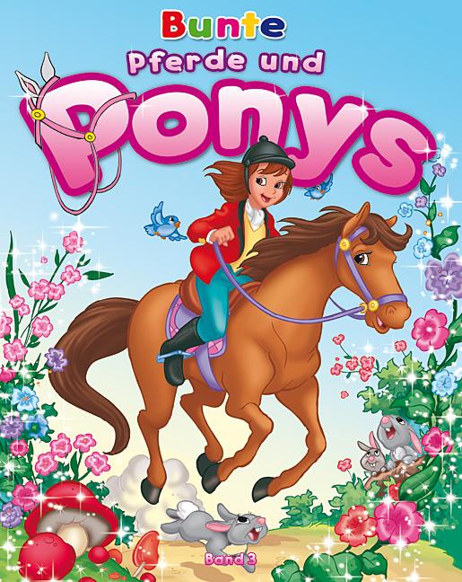 Pferde und Ponys Malbuch 3 Titelbild